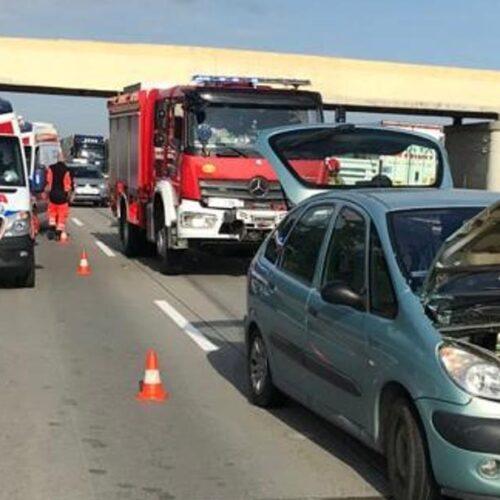 Zderzenie czterech pojazdów na autostradzie A4